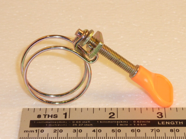 "25mm 1"" wire hoseclip - orange"